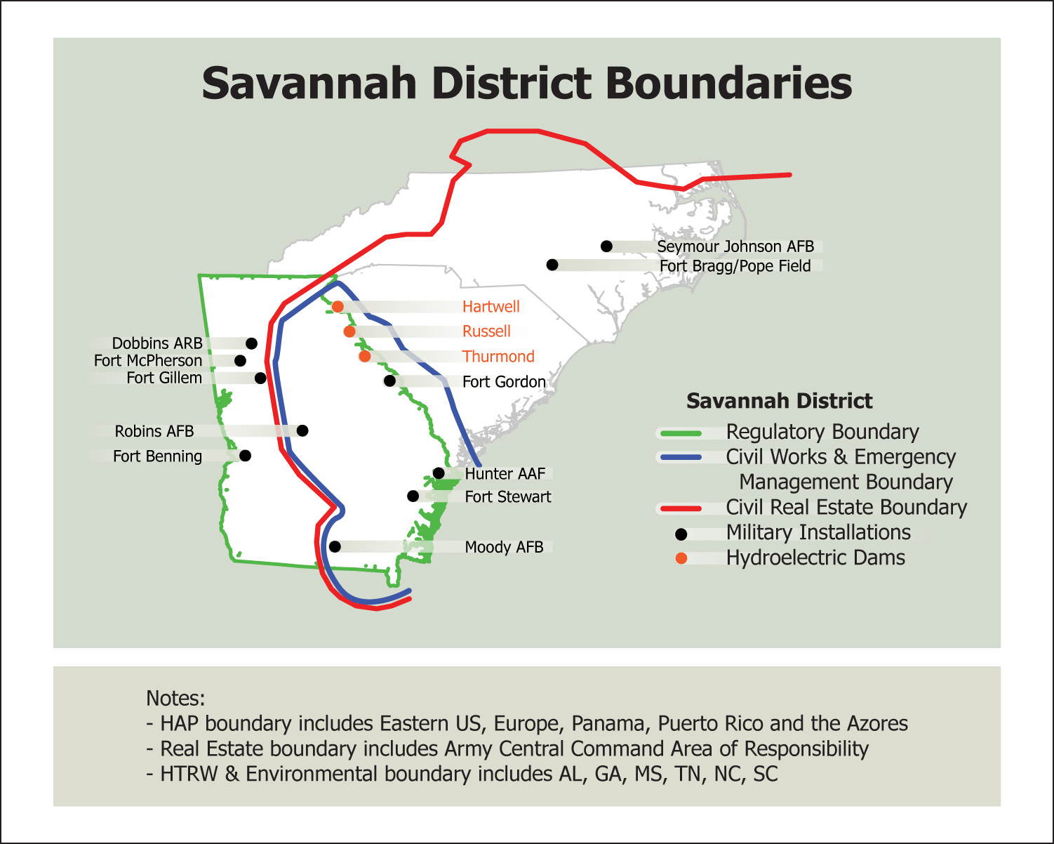 Savannah District About District Boundaries - Us corps of engineers district map